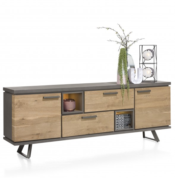 Sideboard Avila Eiche mit LED Beleuchtung