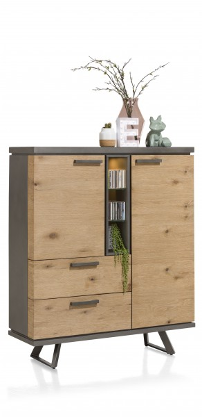 Highboard Avila Eiche mit LED Beleuchtung