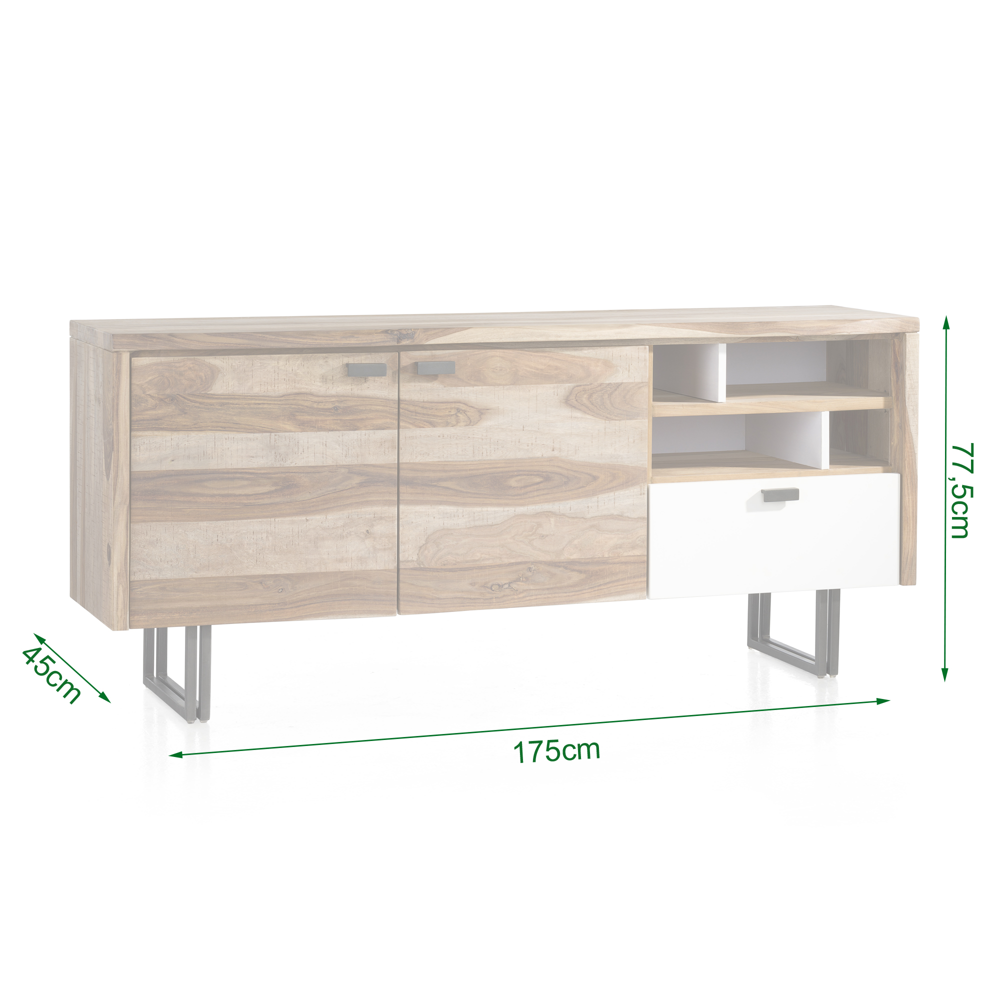 Vista Sideboard Aus Sheesham Massivholz Gunstig Bei Riegel Interior